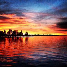 Sylvan Lake, Alberta, Canada Sunset Pics, Sunset Pictures, Cool Pictures, Sylvan Lake Alberta, Creation Of Earth, Lake Louise Banff, Dream Trips, Trout Fishing, Alberta Canada