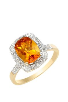 2.20 CTW Citrine Gold Ring | Brandsfever