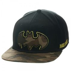DC Comics Batman Camo Bat Boys Baseball Cap Superhero Kids Snapback Hat Birthday Gift Idea for Boys Official Merchandise Boys Clothes