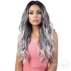 Motown Tress Human Hair Blend Lace Wig - - Human Hair Mix 360 Body Long, shown: *Colors may vary slightly depending on monitor Lace Front Wigs, Lace Wigs, Hair Patterns, Wigs Online, 360 Lace Wig, Natural Hair Styles, Long Hair Styles, Lace Body, Natural Looks