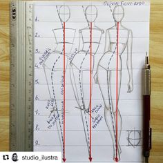 A 10 head body sketch! 📝 Watch out for the guide line (red line)🔼 Desenho… A 10 head body sketch! 📝 Watch out for the guide line (red line)🔼 Desenho de corpo com 10 cabeças. Se liguem na linha guia (linha… Fashion Illustration Tutorial, Fashion Illustration Dresses, Fashion Model Sketch, Fashion Sketches, Fashion Sketchbook, Fashion Figure Drawing, Drawing Fashion, Fashion Figure Templates, Body Template