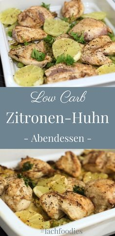 Saftiges Zitronen-Huhn Low Carb Dinner: A juicy lemon chicken from the oven. Low Carb Dinner R