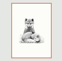 High quality art print. Ink drawing offset printed on 170g uncoated Rives Shetland paper.