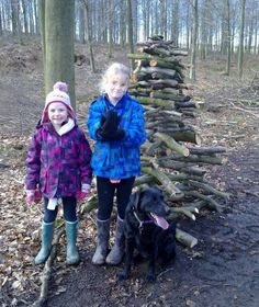 Twig Towers from Woodland Trust. A fun, free nature activity for warm winter days like today! How tall can you build your tower?