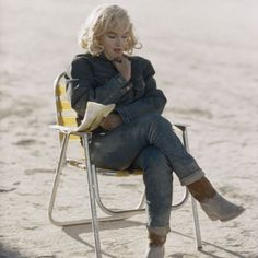 USA. Nevada. Dayton. Marilyn Monroe on the set of 'The Misfits'. 1960.
