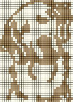 Alpha friendship bracelet pattern added by awesomelgk. Pixel Crochet Blanket, Crochet Blanket Patterns, Filet Crochet, Loom Beading, Beading Patterns, Embroidery Patterns, Crochet Cat Pattern, Dog Pattern, Cross Stitch Kitchen