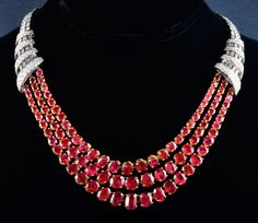 important ruby diamond necklace