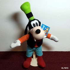 "DISNEY Goofy Dog - 16"" - Plush Stuffed Mickey Mouse & Friends Tags Toy Factory  #Disney"