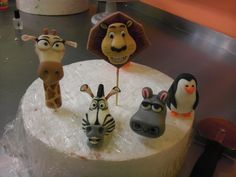 Madagascar fondant figures hand sculpted