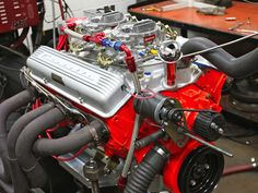 Here's a Chevy small-block faithful to the but with a few modern upgrades. Ls Engine, Motor Engine, Truck Engine, 59 Chevy Impala, Chevy Nova, Chevy Motors, Race Engines, Classic Corvette, Performance Engines