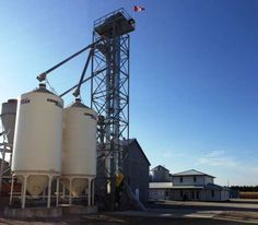 Sukup Drag Conveyor in Receiving Pit & Bucket Elevator at Seed Production Facility - Built by Devolder Farms