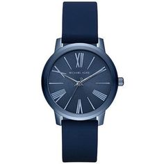 687031cdf701 Michael Kors Women s Hartman Blue Silicone Strap Watch Created for Macy s  Jewelry   Watches - Watches - Macy s