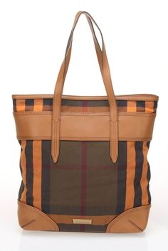 Burberry Tote In Orange. want want want!