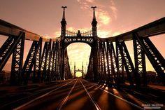 Budapest, The Liberty Bridge Liberty Bridge, Visit Budapest, Silhouette, George Washington Bridge, Urban, Central Europe, Brooklyn Bridge, The Good Place, Places
