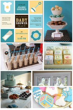 Great baby shower theme.