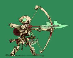 Fantasy Character Design, Character Concept, Concept Art, Cute Skeleton, Skeleton Art, Dnd Mini, Gareth Davies, Dnd Art, Character Design References