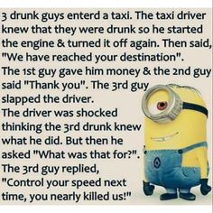 Minions are cute, Adorable and Funny ! Just like Minions, There memes are also extremely hilarious . So here are some very funny and cool minions memes, they will sure leave you laughing for a whi… Funny Minion Pictures, Funny Minion Memes, Minions Quotes, Funny Texts, Funny Jokes, Funny Sayings, Fun Funny, Minion Sayings, Funny Ideas