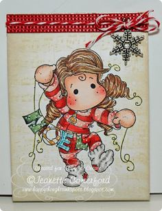 Noel Tilda, Winter Wonderland collection, Magnolia stamps