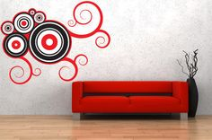 Accent Wall Decal Abstract WallSkin FABRIC decal. Removable Reusable Repositionable