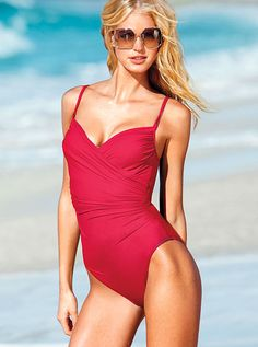 4120d5fb56 IDDDDDDvictorias secret swim suit Two Piece Swimwear, One Piece Swimsuit,  Red Swimsuit, Swimwear