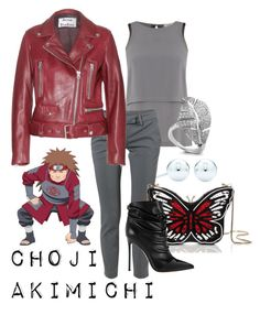 """Choji Akimichi from Naruto"" by laniocracy on Polyvore featuring Label Lab, Tiffany & Co., Dondup, Acne Studios, Kate Spade and Gianvito Rossi"