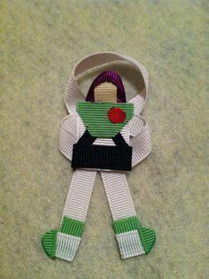 Buzz Lightyear Ribbon Sculpture by CutiePieClipz on Etsy, $4.50