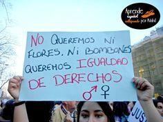 Aprende español callejeando por Madrid: Echamos un pulso #ELE #español #Spanish #femininismo