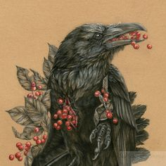 "STUNNING Portrait of Odin's Raven: ""The Quietus of Munin"" by NestandBurrow"