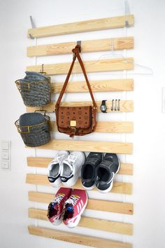 Ikea storage hacks for homes that need an extra closet apartment therapy dü Ikea Bed Slats, Ikea Bed Frames, Ikea Storage, Storage Hacks, Door Storage, Entryway Storage, Ikea Shelves, Ikea Hacks, Hacks Diy