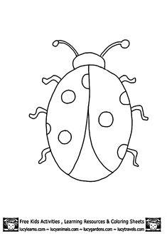 Animal Outlines to Print | Ladybug Outline Template Printables