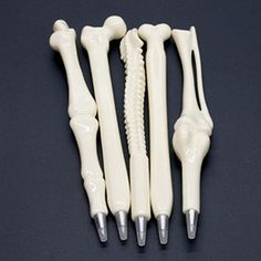 Just what the doctor ordered - our novelty 5-Piece, bone-shaped ballpoint pen set. Ballpoint pen shaped like human bones. Comfortable and smooth writing. Great conversation pieces for home and office Perfect for Chiropractor & Orthopedics offices Great gifts for Doctors, Surgeons, and Nurses Practical Jokers? Why