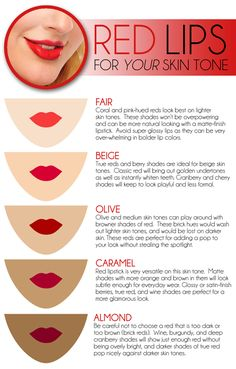 Find what shade of red works best on your skin tone!