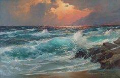 eventides majesty nf - Seascapes Paintings by Alexander Dzigurski  <3 <3