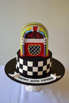 Juke box cake - by Sue Ghabach @ CakesDecor.com - cake decorating website