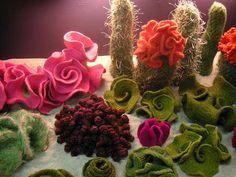 hyperbolic crocheted cactus garden