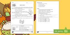 Copiii și toamna Fișă de lucru - fișă de lucru, clasa a II-a, toamna, silabe, exerciții, cerințe, evaluare,Romanian Bullet Journal