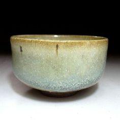 japanese tea bowl | RH4:Japanese Hagi ware Tea bowl. Light green glaze, Famous potter ...