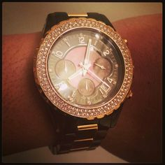 82b76676f9ad Michael Kors Women s Madison Chronograph Tortoise and Rose Gold Watch. of  my watch collection