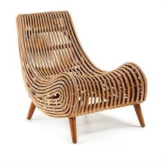 Akit Solid Cane Rattan Accent Lounge Chair