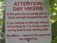 Love this sign at the train head of La Cloche.