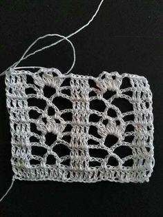 Crochet Boarders, Crochet Blocks, Granny Square Crochet Pattern, Crochet Diagram, Crochet Stitches Patterns, Filet Crochet, Crochet Motif, Crochet Designs, Crochet Doilies