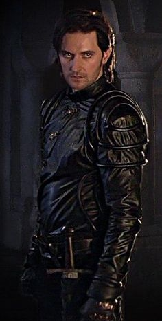 My favourite baddie - The smirking,  smouldering, and smoking  Sir Guy of Gisborne -portrayed by Richard Armitage.