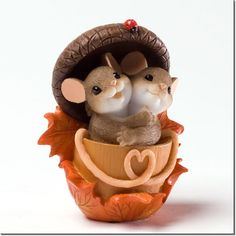 CHARMING TAILS Mouse Figurine Thanksgiving 4027683 ACORN BUILT FOR TWO   eBay