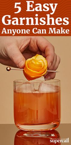 From tropical, tiki-inspired fruit garnishes, to herbal cocktail stirrers, here are the most impressive, easiest cocktail garnishes to make at home.