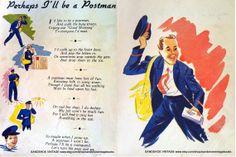 """This was my German Lesson today:  """"Sein Traumjob ist es, Briefträger zu werden und mit einsamen Hausfrauen zu flirten.""""  Translation: His dream job is to become a postman and flirt with lonely housewives.  ------------------------------------  My friends think he might get bitten by a few dogs first..."""