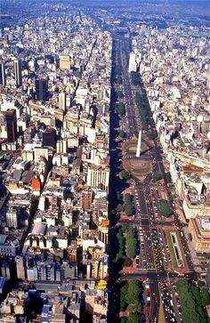 Avenida 9 de Julio is the widest avenue in the world. It is located in the city of Buenos Aires, Argentina. Its name honors Argentina Places Around The World, Travel Around The World, Around The Worlds, Argentine Buenos Aires, Places To Travel, Places To See, Travel Destinations, Chile, Argentina Travel