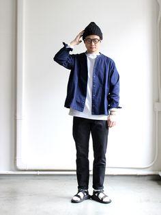 maillot マイヨ Indigo Cord Stripe Snap Cardigan  | STRATO BLOG