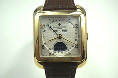 Vacheron Constantin Toledo 1952 yellow gold box/ papers c. for sale by fabsuisse High End Watches, Vacheron Constantin, Gold Box, 2000s, Crocodile, Dates, Sapphire, Crown, Crystals