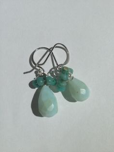 Larimar Aquamarine Silver Earrings Etsy jewelry by by Lilyb444, $36.00