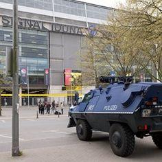 Security heightened outside Borussia Dortmunds stadium